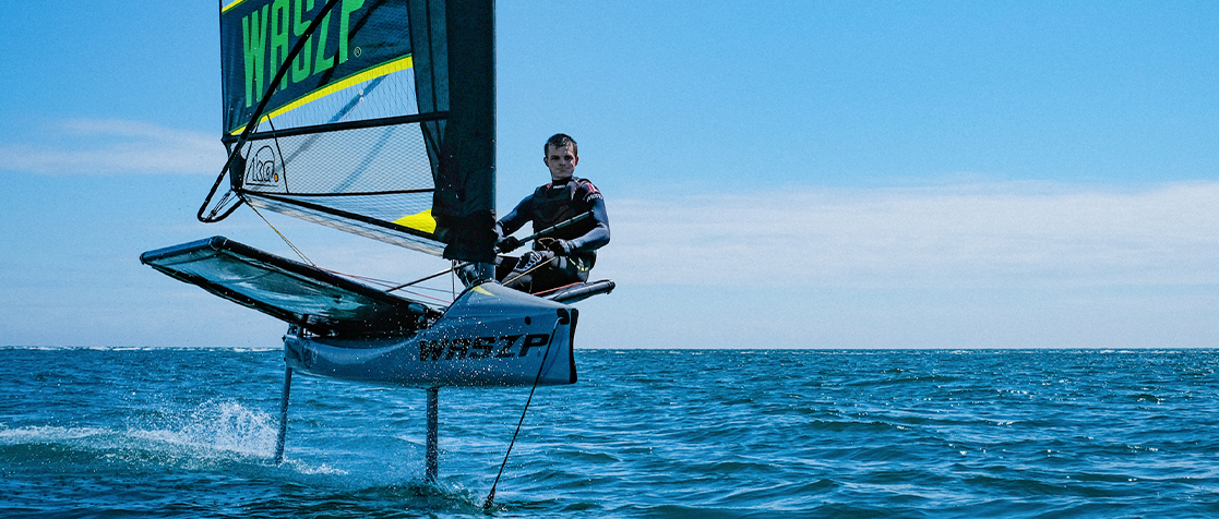 Sam Whaley winner of Sailmon Speed Challenge